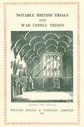 Cover of Notable British Trials and War Crimes Trials