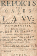 Cover of Reports and Cases of Law: Argued and Adjudged in the Courts of Law, at Westminster.