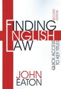 Cover of Finding English Law: Quick Access to Key Titles