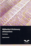 Cover of Witherbys Dictionary of Insurance