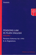 Cover of Pensions Law in Plain English: Pension Schemes Act 1993 & Its Regulators