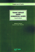 Cover of Tenant Default under Commercial Leases