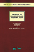 Cover of Fraudulent and Exaggerated Claims in Personal Injury