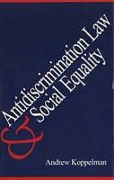 Cover of Anti-discrimination Law and Social Equality